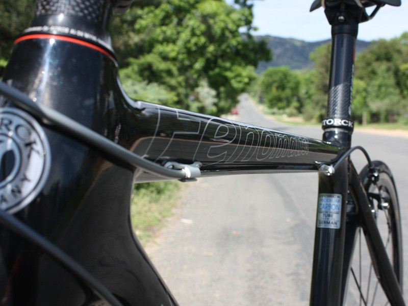 The slightly flattened top tube is straightforward in design and utterly effective in practice with excellent stiffness and a resilient ride quality