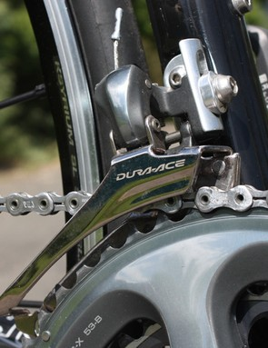 Front shifts from the Dura-Ace 7900 crankset and front derailleur combination are quite possibly the smoothest in the road world right now