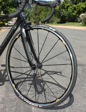 Mavic's Ksyrium SL Premium wheels provide a sturdy feel and a time-proven design