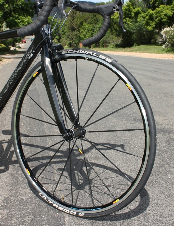 Mavic's Ksyrium SL Premium wheels provide a sturdy feel and a time-proven design
