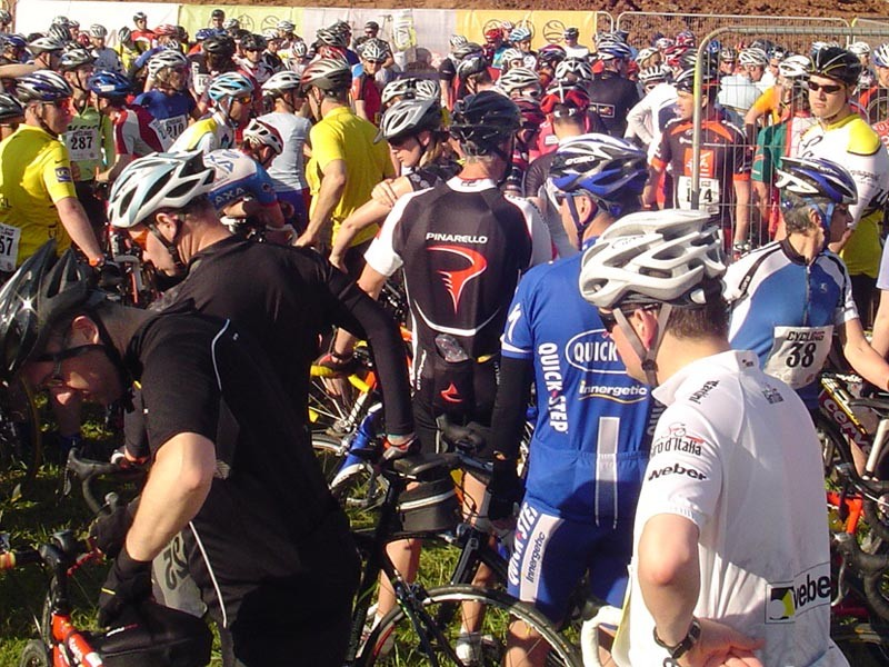Sportive riders at the ready