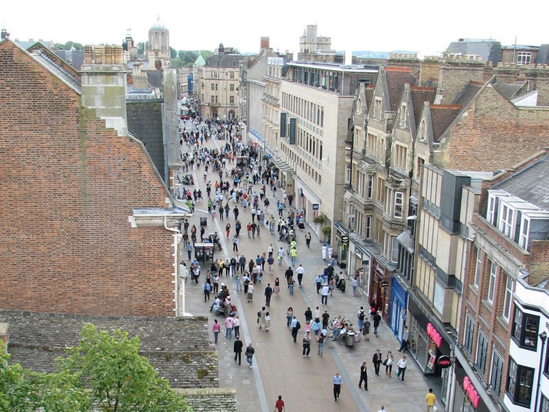 Police have cracked down on cyclists using the pedestrian zone in Cornmarket Street, Oxford