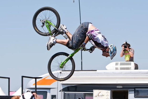 Martyn Ashton mid-air