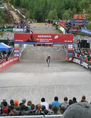 The downhill finish line