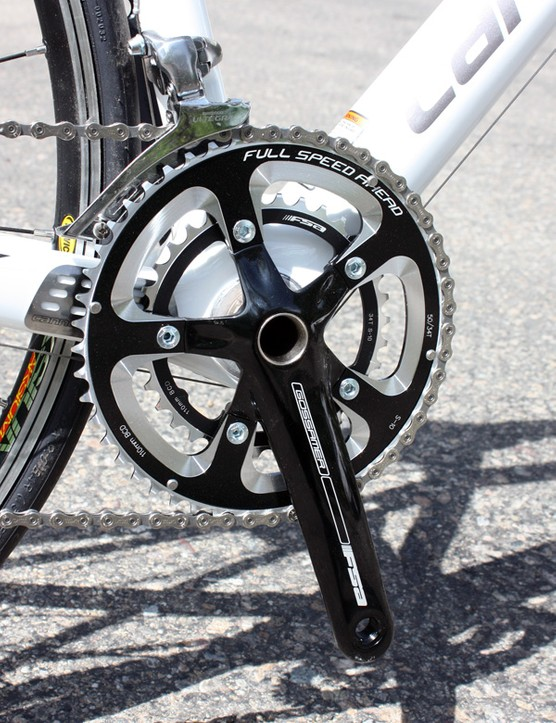 The FSA Gossamer MegaExo crankset runs smoothly and shifts well but the BB30 version is significantly lighter - and not much more expensive