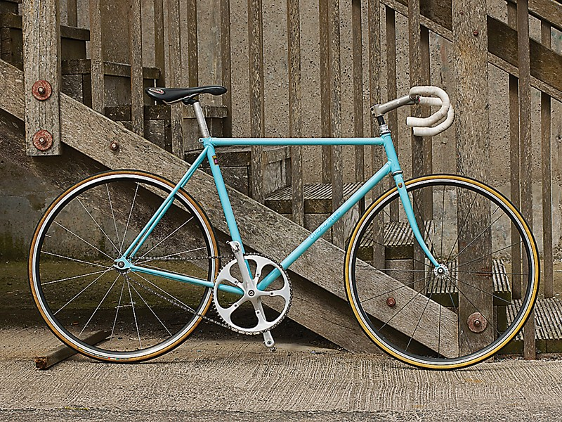 The self-built bike that Obree hopes to set a new hour record on this year