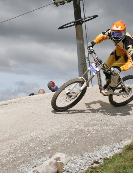 Action from practice in Fort William