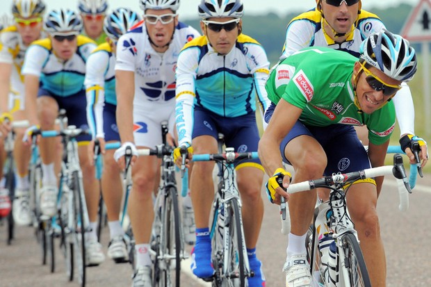 The Astana team will race in their normnal kit in the Tour de France