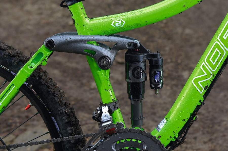 Twin position top shock mounts give two travel settings