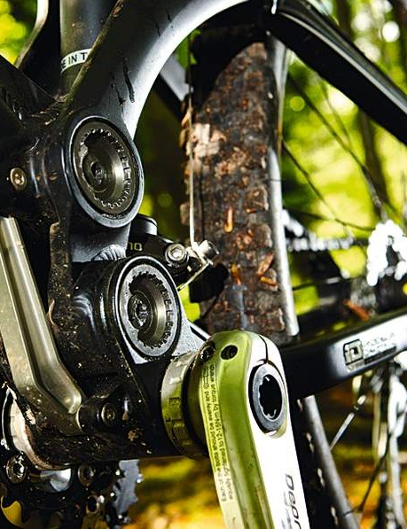 At the centre of the bike is  GT's Independent  Drivetrain