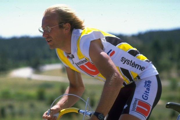 1986: Laurent Fignon of France in action during the World Cycling Championships in Denver, Colorado, USA
