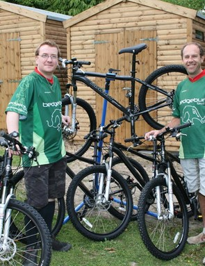 Bedgebury Forest Cycle Club members Malcolm Stoddart (left) and Gary Scott with the new bikes