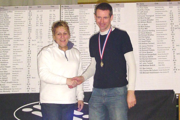 Nik Bowdler, age group winner at last week's national 25, clocked the fastest 50 mile time of the year on Sunday