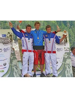 Elite men's podium - Nick Beer, Aurelien Giordanengo, Remi Thiron