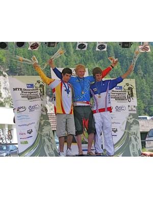 Junior men's podium