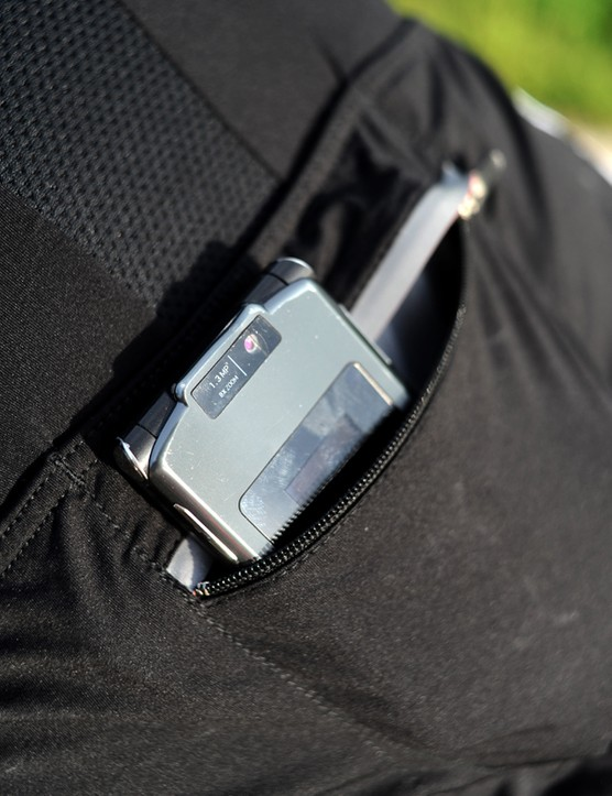There's an extra zippered piggyback pocket  plus a small reflective strip for nighttime visibility.