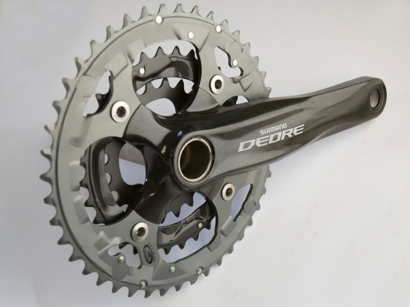 The new two-piece chainset uses Shimano's Hyperdrive system