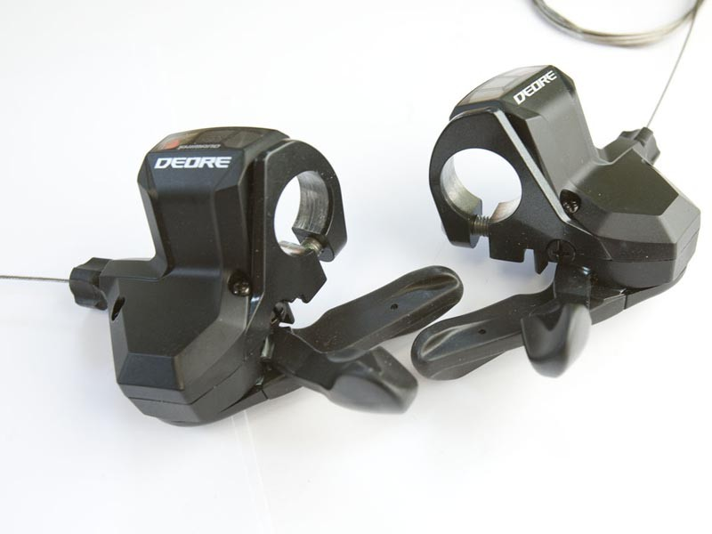 The 9 speed rapidfire shifters have been redesigned for comfort and ease of use