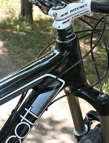 The top tube, head tube, down tube and seat tube are all molded as one piece.