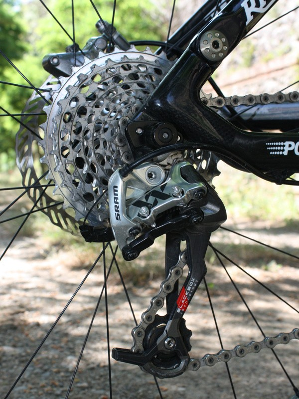 The new SRAM XX rear derailleur is based on the existing X.0 but also borrows a number of key features from the road-going Red group.