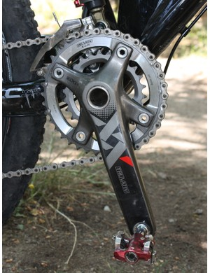 Frischknecht opts for the 26/39T version of the new Truvativ XX two-ring crank.