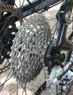 The new SRAM XX cassette is almost more air than metal.