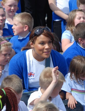 Olympian Shanaze Reade in the crowd at Stoke-on-Trent