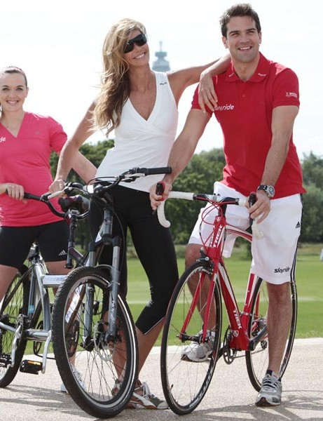 Elle Macpherson, Gethin Jones and Victoria Pendleton