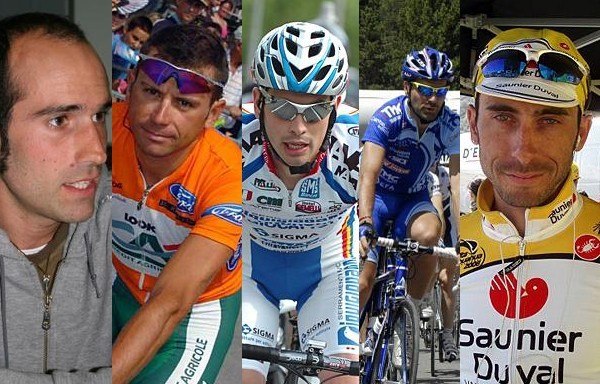 Astarloa, Caucchioli, De Bonis, Serrano and Lobato Elvira were the riders named by the UCI.