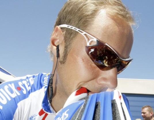 Belgian rider Tom Boonen is pictured at the start of the Gullegem Koerse, on June 2, 2009 in Gullegem.