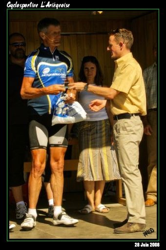 Podium shot from the 2008 L'Ariégeoise sportive.