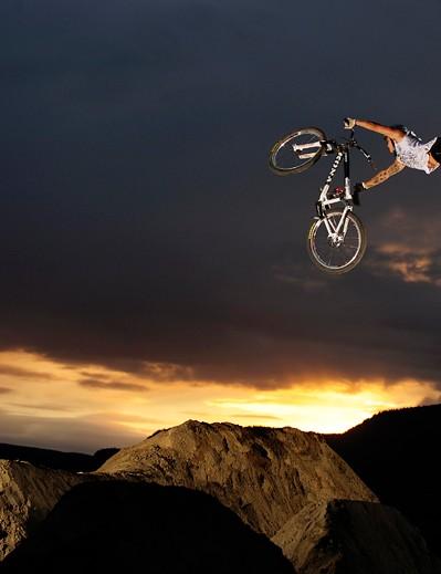 Andreu Lacondeguy grabbing air in Hafjell, Norway.