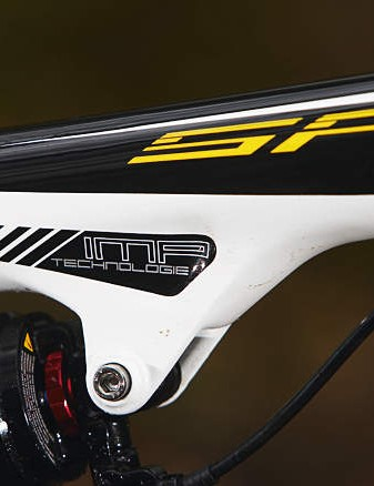 The smooth lines of the carbon mainframe hide all the work that's gone into making this a seriously light bike