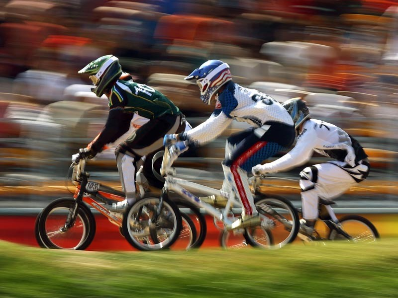 BMX race action at the 2008 Beijing Olympics