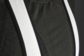 The open mesh bibs allow cooling air to pass through.