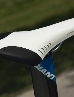 You can alter your position on Fizik's long Arione saddle to relieve aching muscles