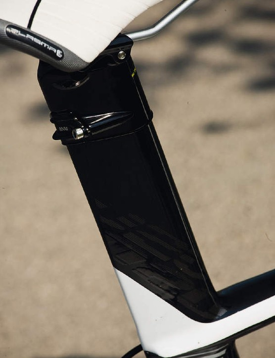 The Plasma saves weight with an extended seat tube that you cut to the right length