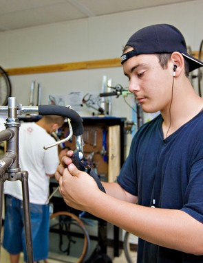 Preparing for jobs in the local bike industry.
