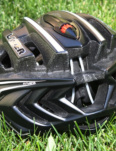 Large rear vents should help evacuate hot air from beneath the helmet.