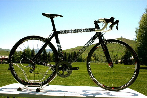 The 2010 Delta 7 Ascend road bike, built with SRAM Red.