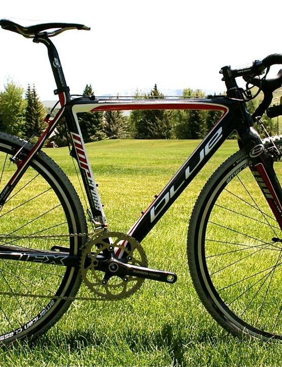 The US$3,800 2010 Blue NorCross carbon fibre cyclo-cross bike