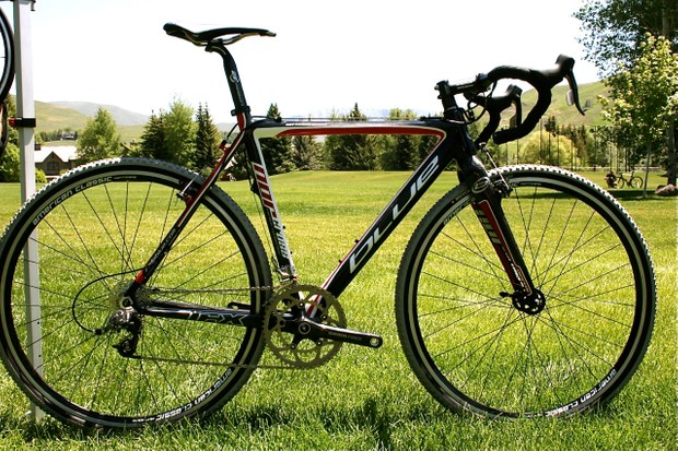 The US$3,800 2010 Blue NorCross carbon fibre cyclo-cross bike