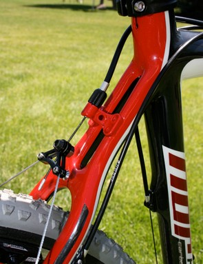 The split seatstays are svelte and strong