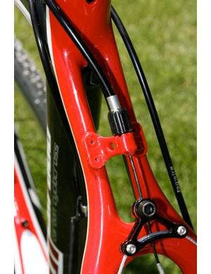 Cyclo-cross bikes rely on cantilever brakes; the UCI doesn't allow disc brakes - yet