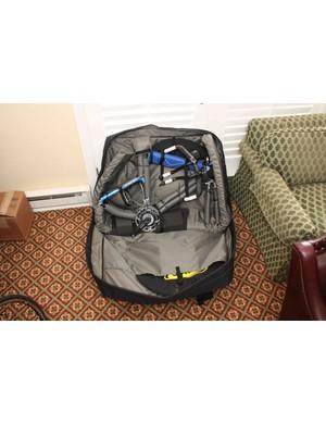 The US$265 Blue Aerus bike travel case