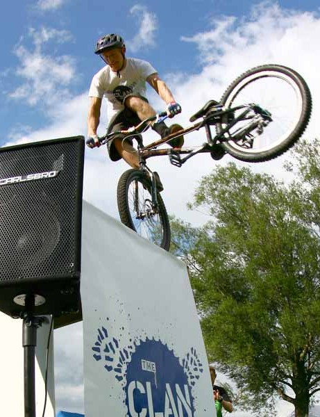The Clan's Danny MacAskill in action