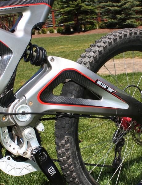 The swingarm is also a monocoque carbon fibre bit.