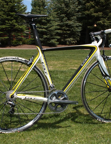 The GT GTR Carbon road racer was raced by the Jelly Belly squad at this year's Tour of California.