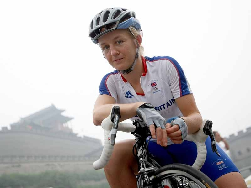 Emma Pooley, silver medalist at the Beijing Olympics