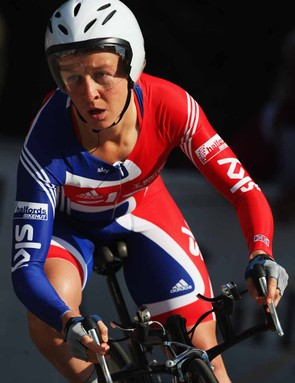 Emma Pooley in time trial mode